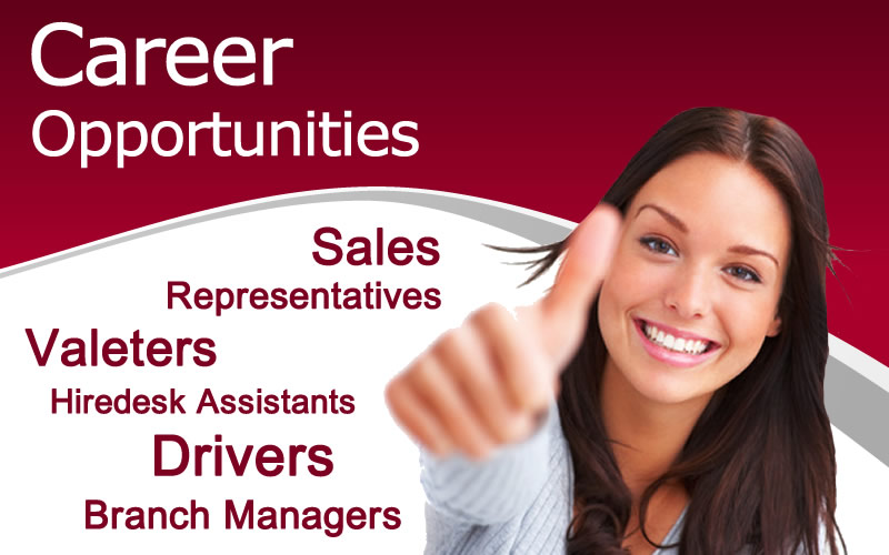 Looking for a career in the world of Vehicle Rental?  For more information contact our HR team today!