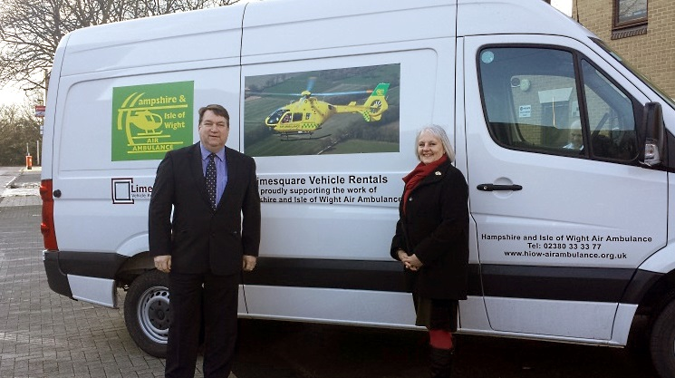 Limesquare supporting the Hampshire and Isle of Wight Air Ambulance
